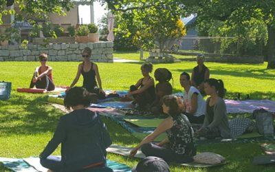 Cours de Yoga par Viviane Martin-Prélaz en faveur de S.A.F.
